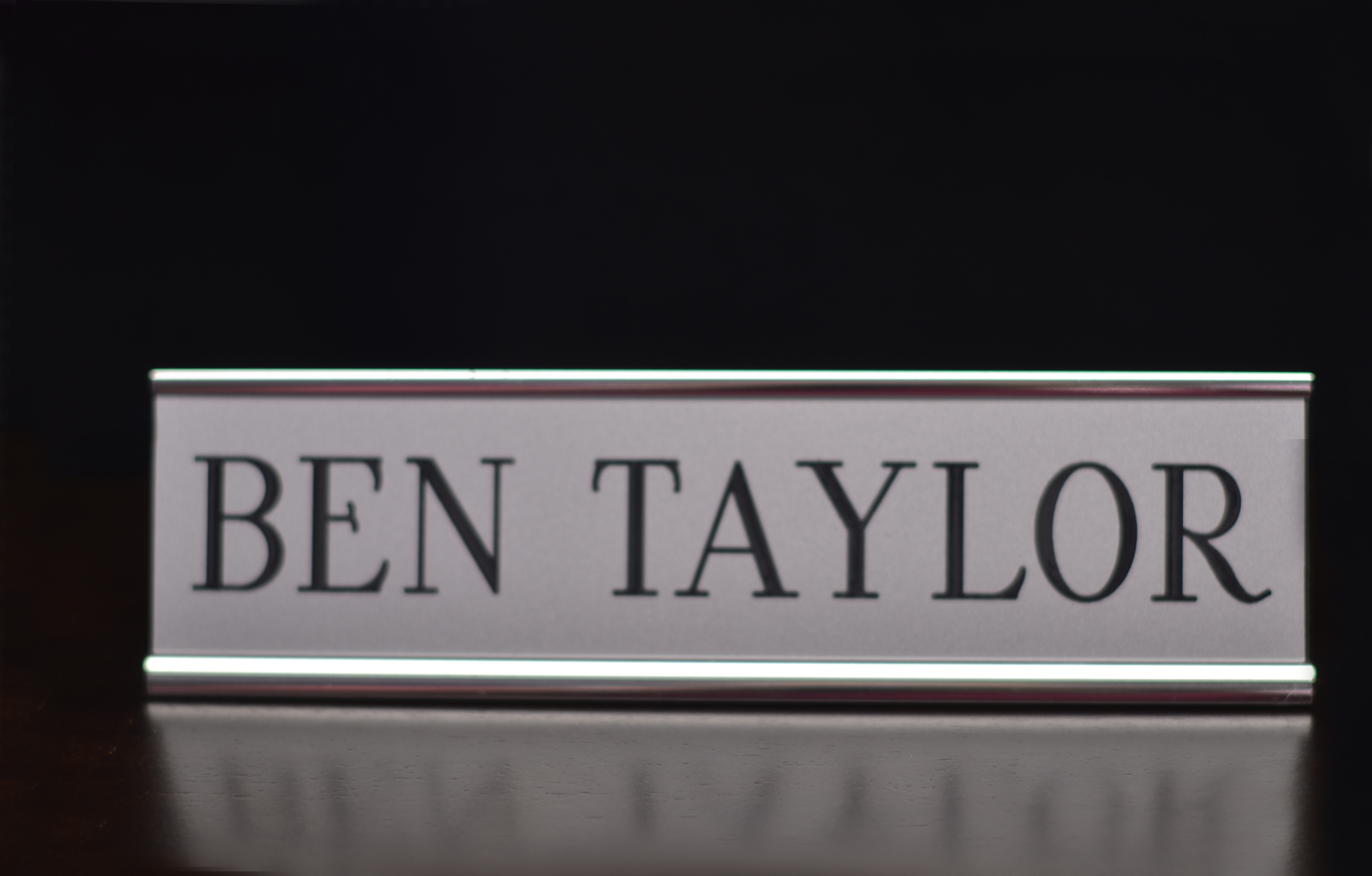 Silver Desk Name Plate Holder with Insert. & Silver Desk Name Plate Holder with Insert | Awards Unlimited ...