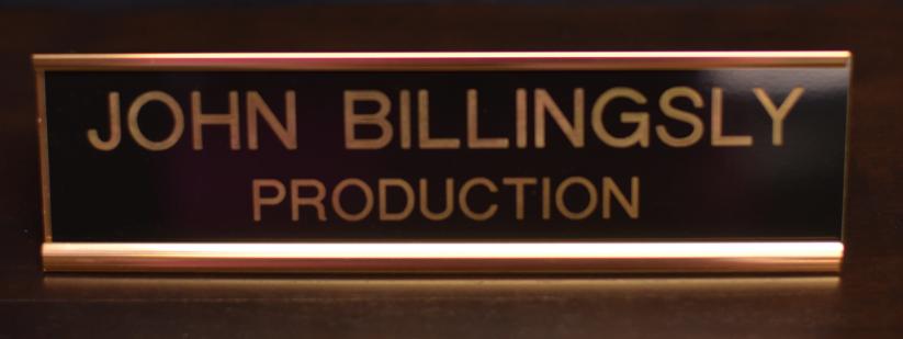 Copper Desk Aluminum Name Plate With Insert Awards